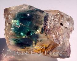 Teal Blue  Dichroic Plush Oregon Sunstone